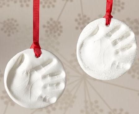 Pottery Barn Kids Holiday Handprint Ornament Keepsake I