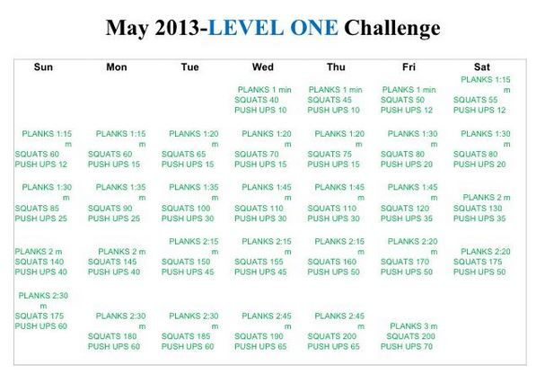 My Authentic Blend Of 23 Flavors April Exercise Overview May Goals