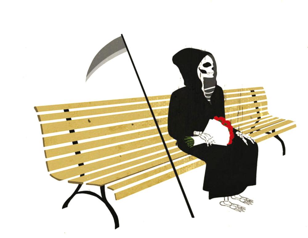 Copertina del libro Le intermittenze della morte di José Saramago