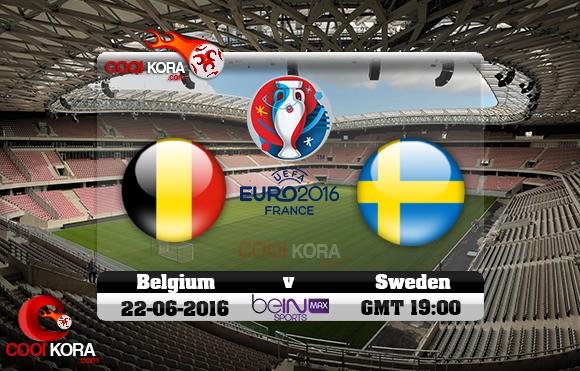 مشاهدة مباراة بلجيكا والسويد اليوم 22-6-2016 بي أن ماكس يورو 2016