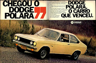 propaganda Dodge Polara -  Chrysler - 1976.  reclame de carros anos 70. brazilian advertising cars in the 70. os anos 70. história da década de 70; Brazil in the 70s; propaganda carros anos 70; Oswaldo Hernandez;