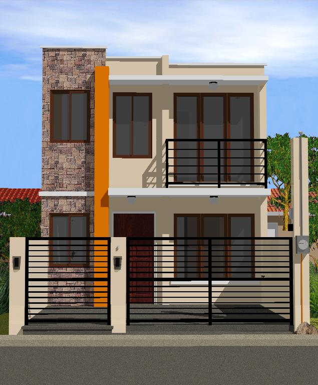 Modern two storey house design modern diy art designs for Two story modern house plans
