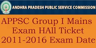 TSPSC Group 1 Mains Hall Ticket 2011-2016