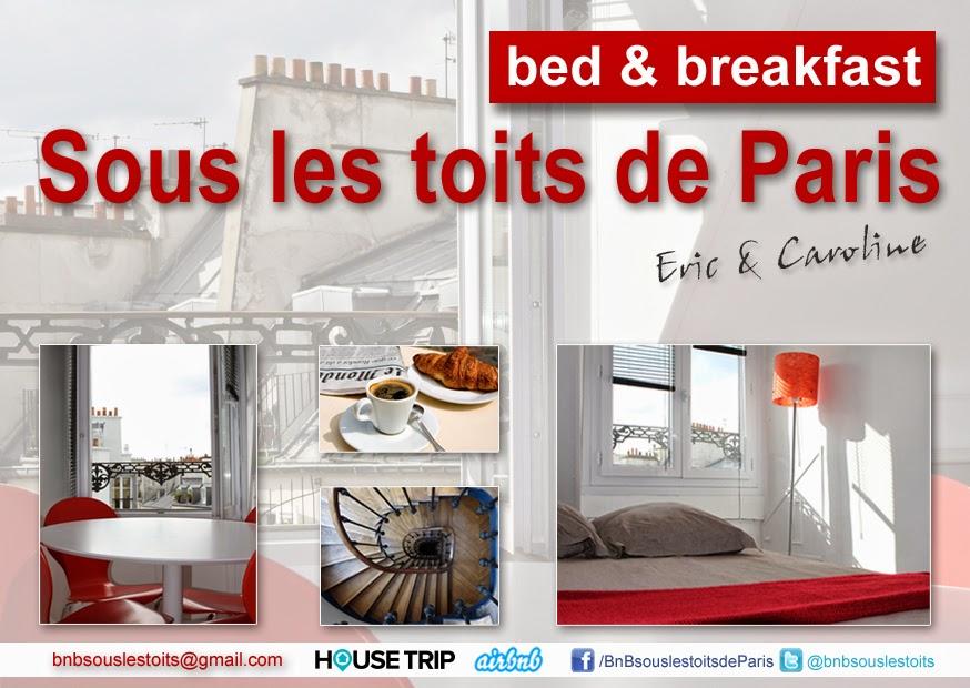 Bed breakfast sous les toits de paris nouveau b b - Chambre d hotes region parisienne ...