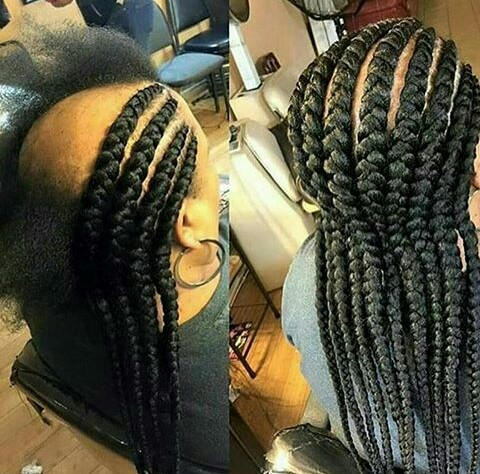 15 Most Stylish Big Box Ghana Weave Braids For African Women Photos Blogit With Olivia