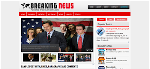 Breaking News 2 Column Blogger Template