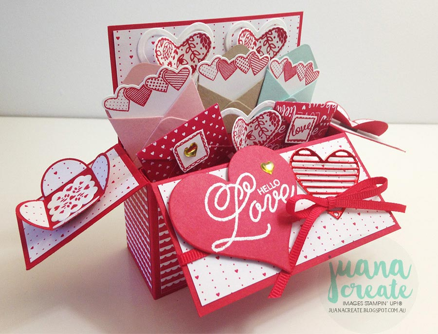juana ambida sealed with love card in a box tutorial