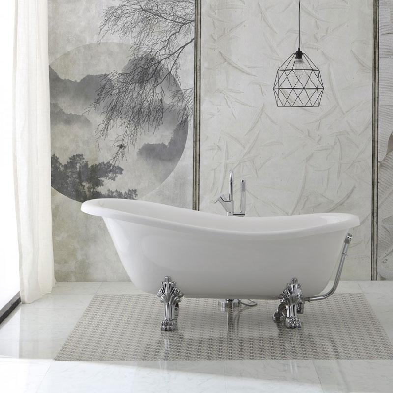 vasca da bagno freestanding con piedini