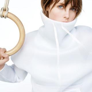 Zara Gymwear High Neck White Mesh Sweatshirt