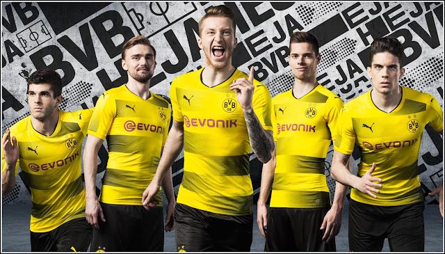 Borussia Dortmund 2017-18 Home Men Soccer Jersey