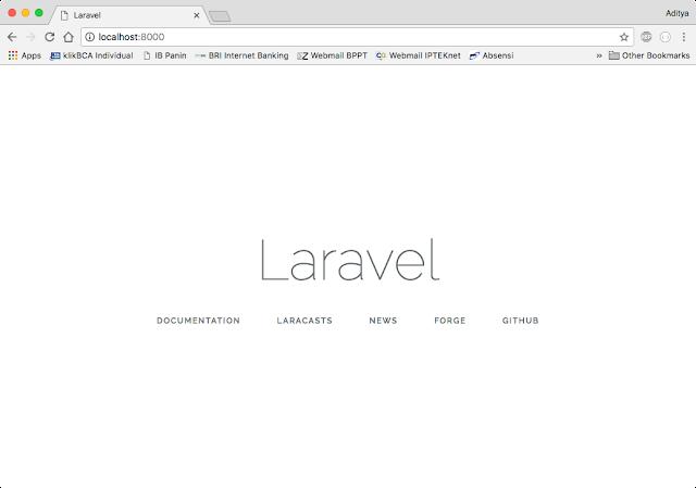 laravel local server