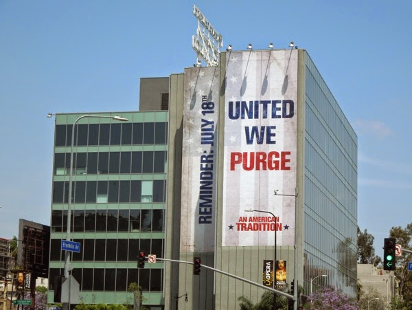 Giant Purge Anarchy reminder billboard Hollywood