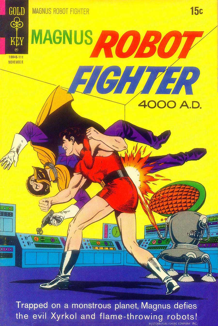 Magnus Robot Fighter #29 gold key silver age cover by Russ Manning