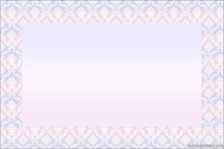 Light Blue, Lilac and Pink: Free Printable Quinceanera Invitations.