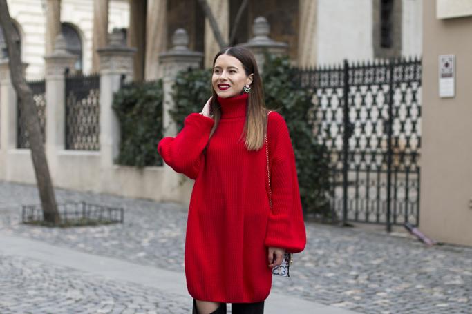 adina nanes rochia tip pulover