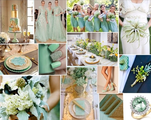 Mint And Gold Inspiration Board Wedding Guest Look