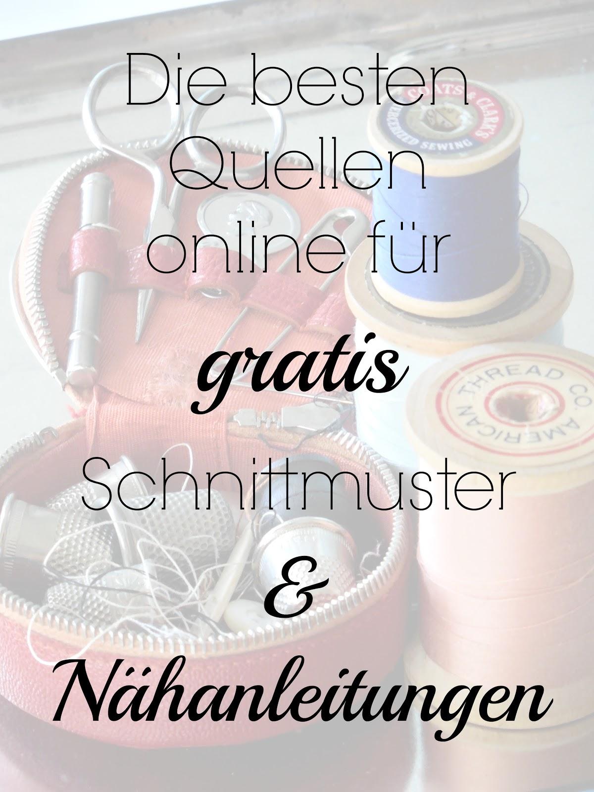 Die besten Websites für gratis Schnittmuster - Green Bird - DIY Mode ...