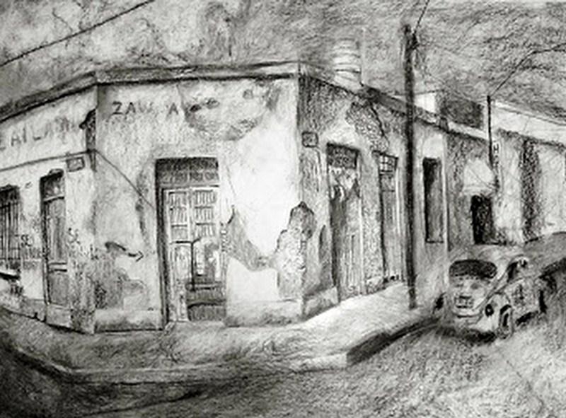Imágenes Arte Pinturas: Paisajes Pintados Con Carboncillo