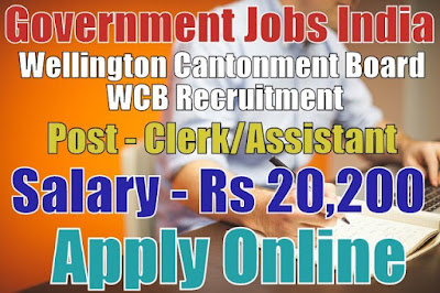 Wellington Cantonment Board WCB Recruitment 2017