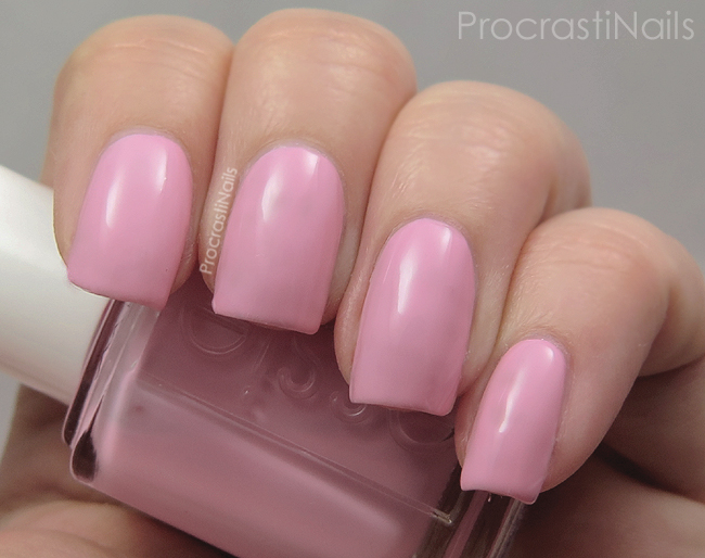 Swatch of a light pink nail polish Essie French Affair
