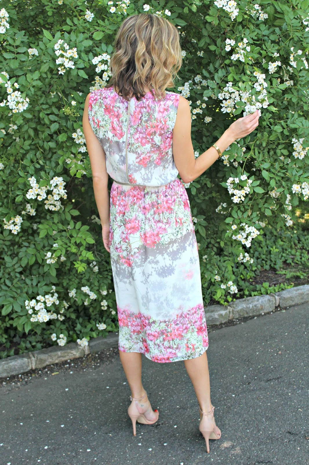 summer floral special occasion dress