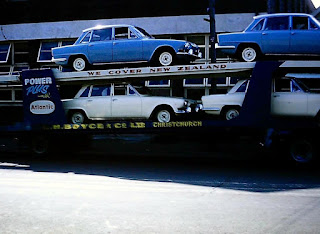 Triumph 2000's on car transporter in New Zealand