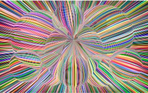 Imagen de un cuadro de varios colores simulando una alusinación de las drogas