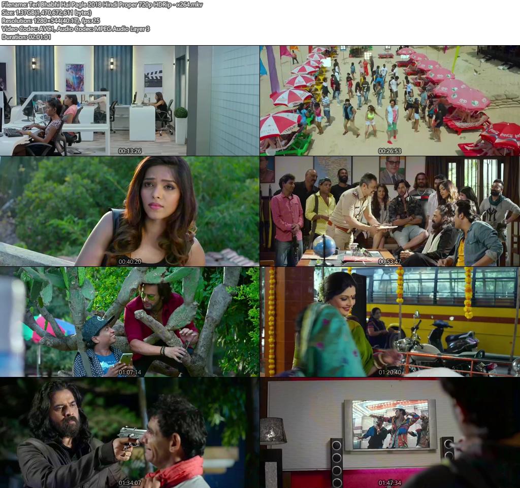Teri Bhabhi Hai Pagle 2018 Hindi Proper 720p HDRip x264 | 480p 300MB | 100MB HEVC Screenshot