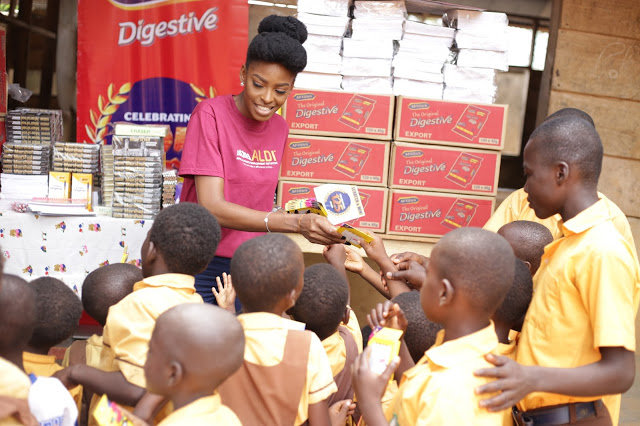 "McVitie's In Partnership With Victoria Michaels Foundation Celebrated ""Make Happy, Be Happy Day"" At The AKWEIBU Basic School"
