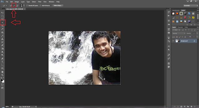 Mengseleksi foto di photoshop