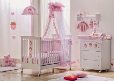 Dormitorios para beb s ni as colores en casa - Adornos habitacion bebe ...