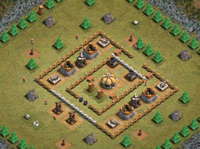 Goblin Base Clash of Clans Fort Knobs