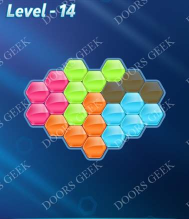 Block! Hexa Puzzle [Intermediate] Level 14 Solution, Cheats, Walkthrough for android, iphone, ipad, ipod