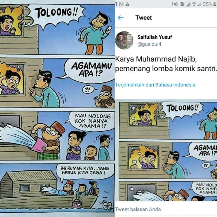 Komik Menyerang Islam dan Bantahan Ketua RTc