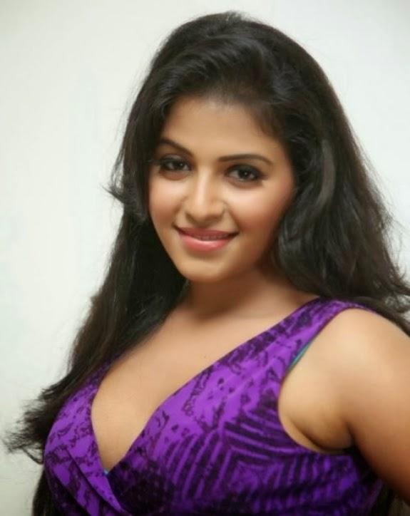 Telugu Actress Anjali Hot Photo shoot In Violet Dress