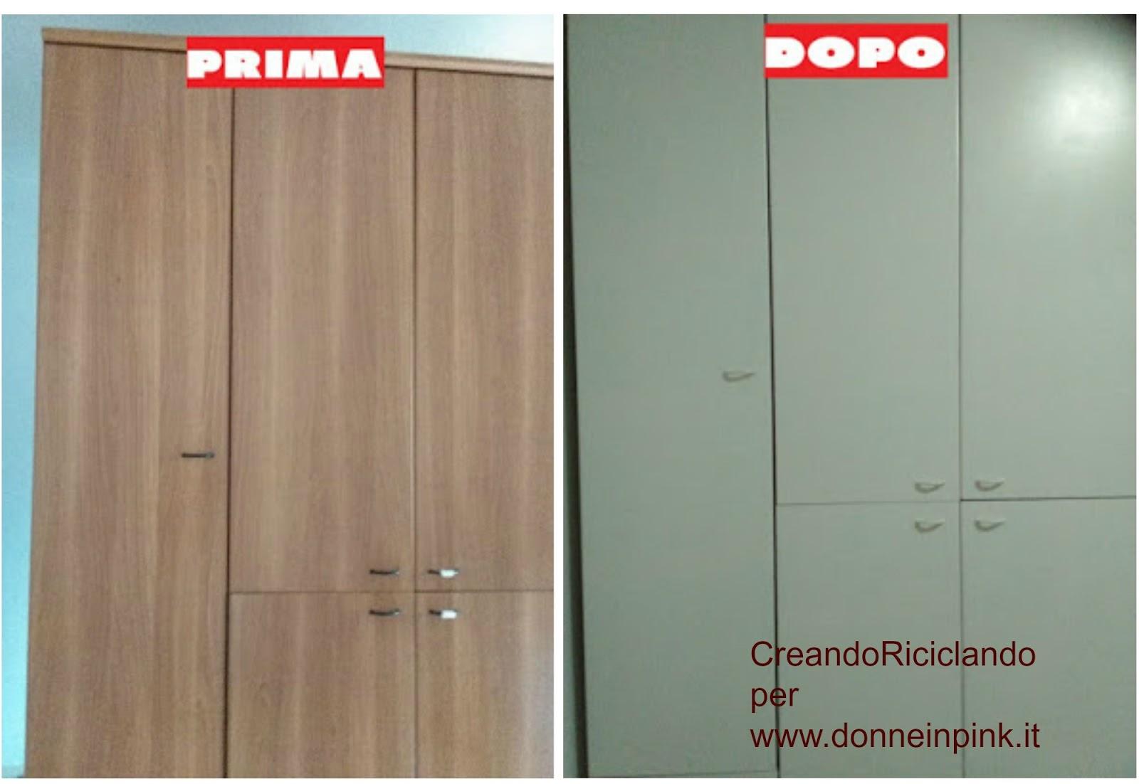 Donneinpink magazine come cambiare colore al vecchio armadio for Armadio seconda mano