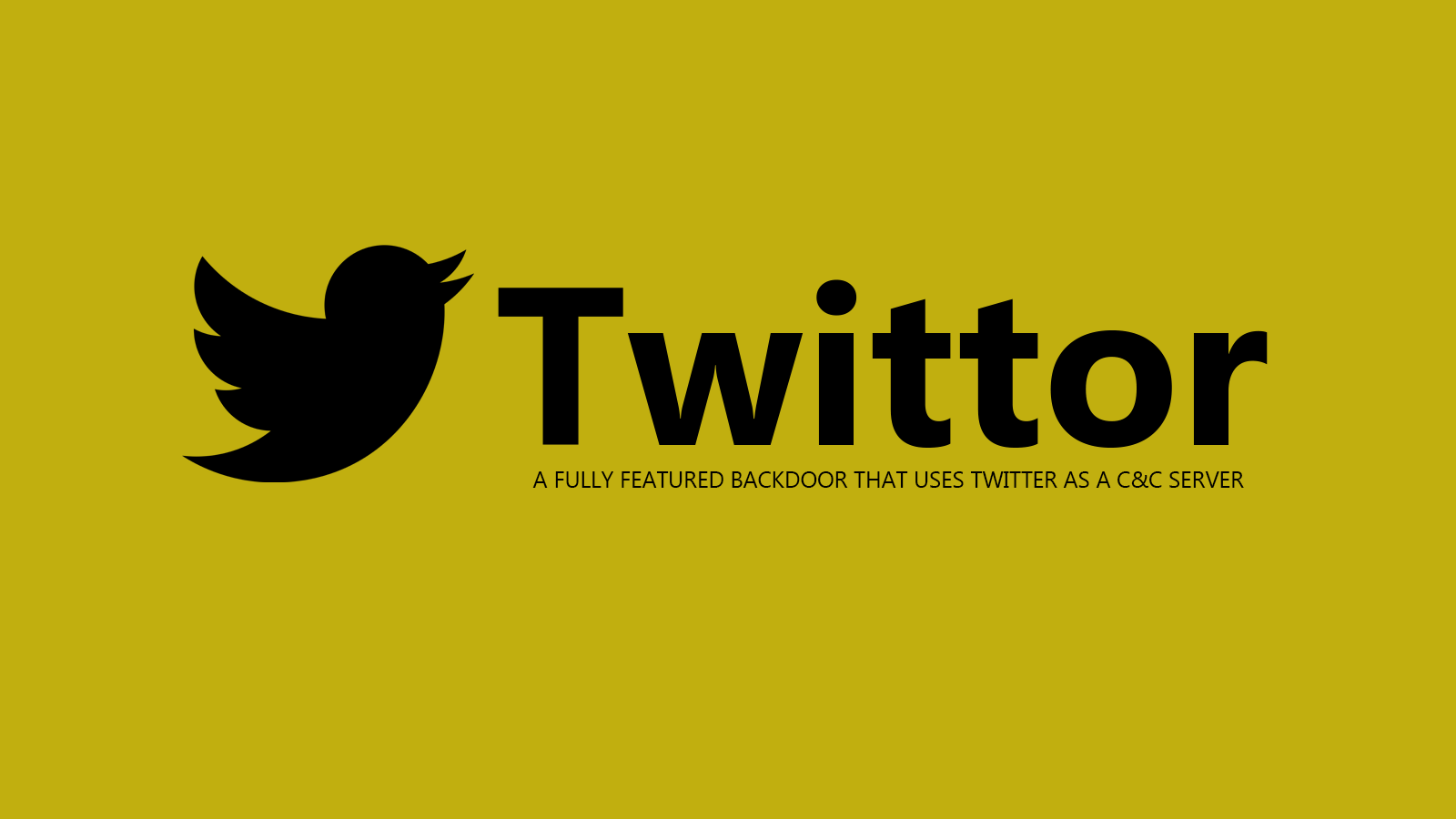 Twittor - A Fully Featured Backdoor that Uses Twitter As a C&C Server