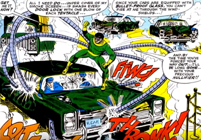 Amazing Spider-Man #55, john romita, after the ultimate nullifier, doctor octopus attacks john jameson's convoy, causing havoc with his tentacles