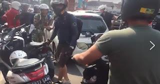 BRAVO! Dibantu Para Pemotor, Anggota TNI Kejar Sopir Mobil Pelaku Tabrak Lari, Begini Akhirnya