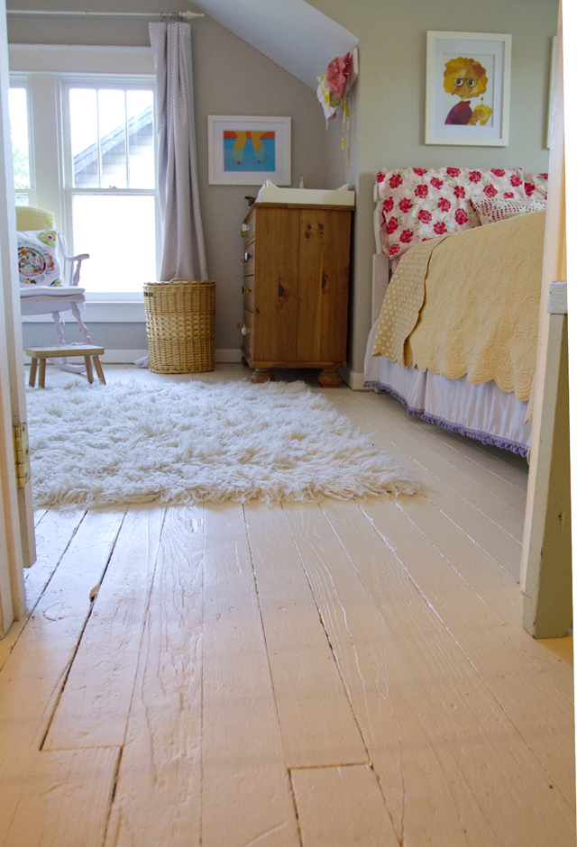 Black and White and Loved All Over: Painted White Floors ...