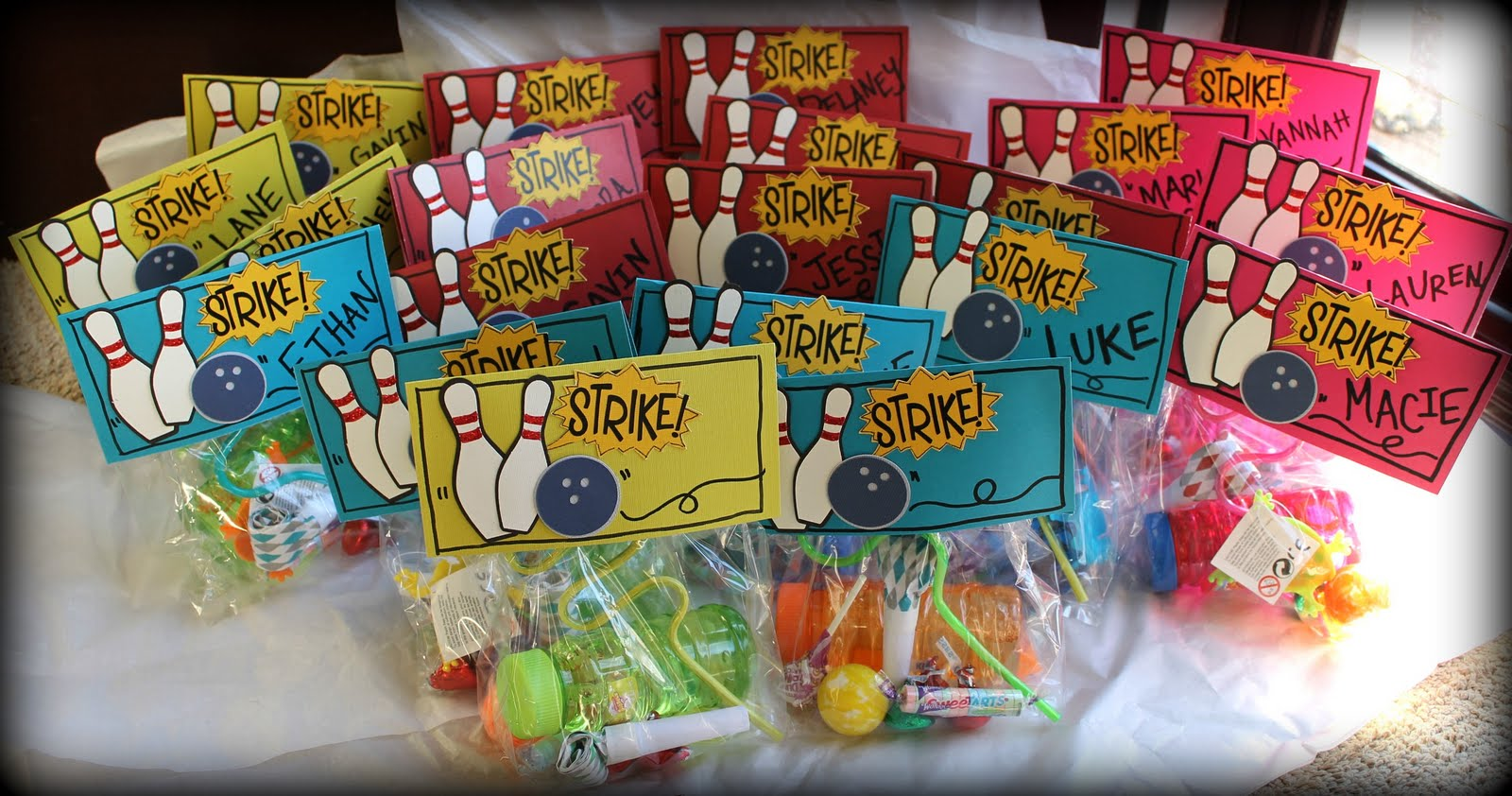 Simply Charming Crafts Bowling Party Goo Bags