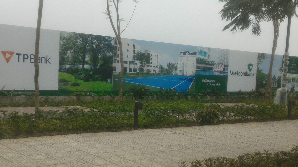 Tiến độ thi công mới nhất Việt Hưng Green Park