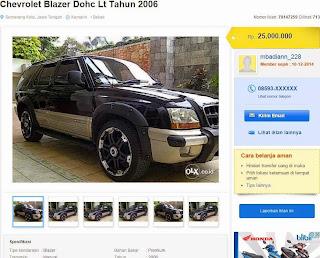 Blazer adalah mobil murah
