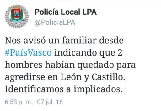 Evitan desde el País Vasco una agresión en las palmas de Gran Canaria