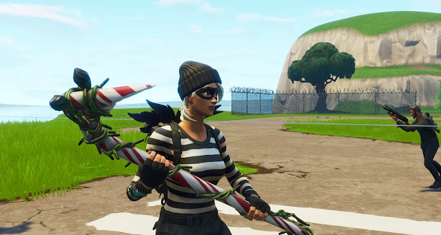 Screenshot of the burglar skin from Fortnite