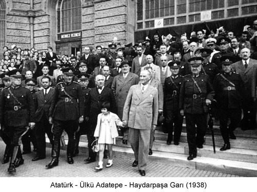 Atatürk Ülkü Haydarpaşa Garı 1938 Fotoğraf