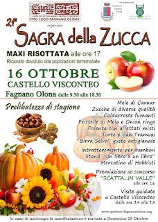 Sagra della Zucca e Maxi Risottata da 60 kg 16 ottobre Fagnano Olona (VA)