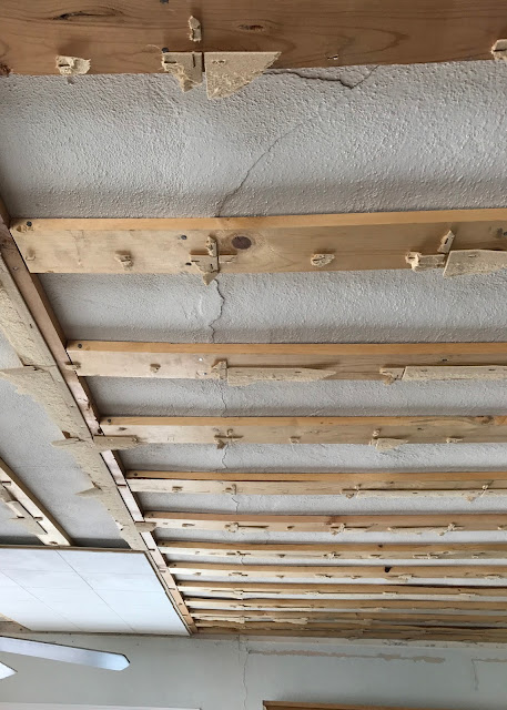 Farmhouse Ceiling - removing ceiling tiles