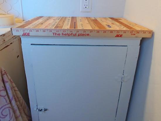 Repurposed Yardstick Counter Top