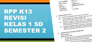Geveducation: Download Kumpulan RPP K13 Revisi 2017 2018 2019 Kelas 1 SD Semester 2